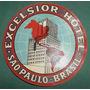 Publicidad Etiqueta Valijas Hotel Excelsior Sao Paulo Brasil