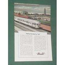 Publicidad Antigua Budd Con Tren Ferrocarril Y Colectivos