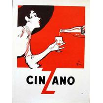 Carteles Antiguos Chapa Grue 20x30cm Vermouth Cinzano Dr-157