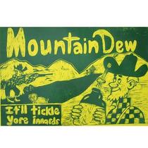Publicidad Antigua Chapa Gruesa 20x30cm Mountain Dew Dr-049