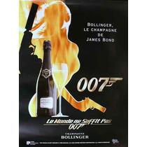 Carteles Antiguos Chapa 20x30cm James Bond Champagne Dr-187