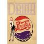 Carteles Antiguos En Chapa Gruesa 20x30cm Pepsi Cola Dr-025