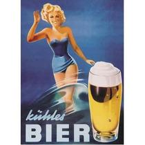 Carteles Antiguos Chapa Gruesa 20x30cm Cerveza Bier Dr-128