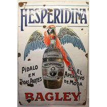 Carteles Antiguos De Chapa Gruesa 20x30cm Hesperidina Dr-228