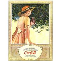 Carteles Antiguos De Chapa Gruesa 20x30cm Coca Cola Dr-349