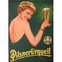 Carteles Antiguos Chapa Gruesa 20x30cm Cerveza Beer Dr-118