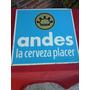 Cartel De Chapa Cerveza Andes