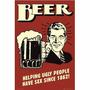 Carteles Antiguos Chapa Gruesa 20x30cm Cerveza Beer Dr-101