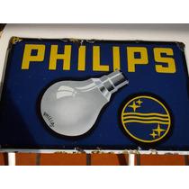 Philips Argentina Antiguo Cartel Enlozado