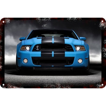 Carteles Antiguos 60x40cm Ford Mustang Shelby Cobra Au-041