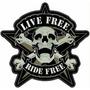 Carteles Antiguos De Chapa Gruesa 50cm Live Free Moto -092