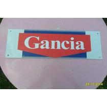 Réplica De Antiguo Cartel De Gancia Mide 47.5 X 15