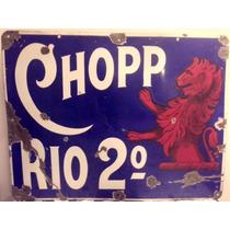 Antiguo Cartel Enlozado Original Chopp Rio 2º