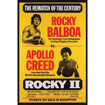 Carteles Antiguos Chapa Gruesa 60x40cm Rocky 2 Apollo Fi-001