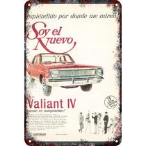 Carteles Antiguos De Chapa 60x40cm Chrysler Valiant 4 Au-200
