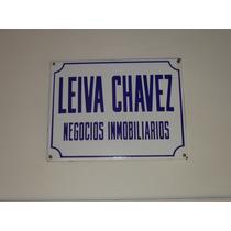 Antiguo Cartel Enlozado Inmobiliaria Leiva Chavez