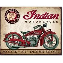 Carteles Antiguos Chapa Gruesa 60x40cm Moto Indian Mot-064