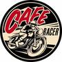 Carteles Antiguos De Chapa Gruesa 50cm Café Racer Moto -021