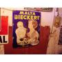 Chapa Enlozada Antigua Publicidad Malta Bieckert