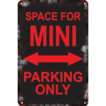 Carteles Antiguos Chapa 60x40 Parking Only Mini Cooper Pa-66