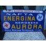 Antiguo Cartel Energina Enlozado Lubrificante Auto Aceite De