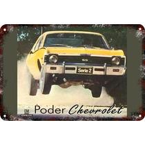Carteles Antiguos Chapa 60x40cm Chevrolet Chevy Serie Au-147