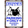 Carteles 60x40 Parking Only Drummers Baterista Bateria Pa-80