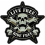 Carteles Antiguos Chapa Gruesa 50cm Live Ride Free Moto -092