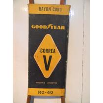 Antigua Correa Goodyear Rg-40 Publicidad No Cartel Esmaltado