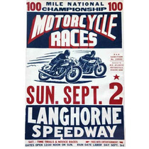 Carteles Antiguos Chapa 60x40cm Poster Motorcycle Races -035