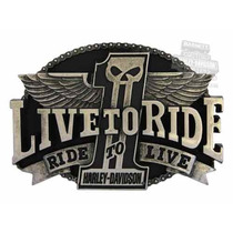 Carteles Antiguos Chapa Gruesa 60x40cm Live To Ride Moto 089