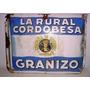 Antiguo Cartel De Chapa Enlozado La Rural Cordobesa