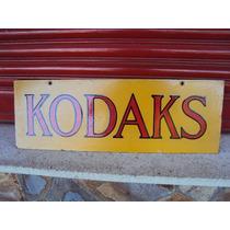 Cartel Enlozado Antiguo Kodaks Doble Faz Original
