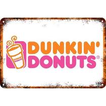 Carteles Antiguos De Chapa 60x40cm Dunkin Donuts Al-033