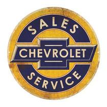 Carteles Antiguos De Chapa Gruesa 50cm Chevrolet Pe-118