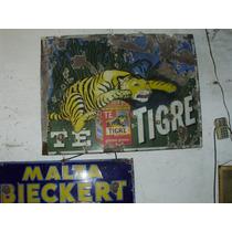 Chapa Enlozada Antigua Publicidad Te Tigre