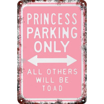 Carteles Antiguos Chapa 60x40 Parking Only Princess Pa-73
