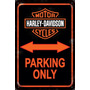 Carteles Antiguos 60x40 Parking Only Harley Davidson Pa-11