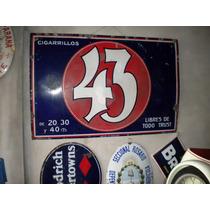 Cigarrillos 43 Cartel Enlozado (ingles)