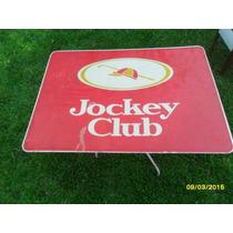 Antiguo Cartel De Cigarrillos Jockey Club De Acrílico 95x70