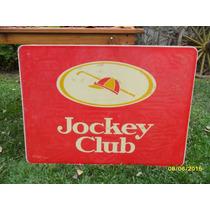 Antiguo Cartel D Cigarrillos Jockey Club D Acrílico 95x70 B
