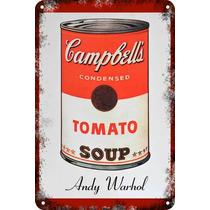Carteles Antiguos Chapa 60x40cm Campbells Andy Warhol Al-005