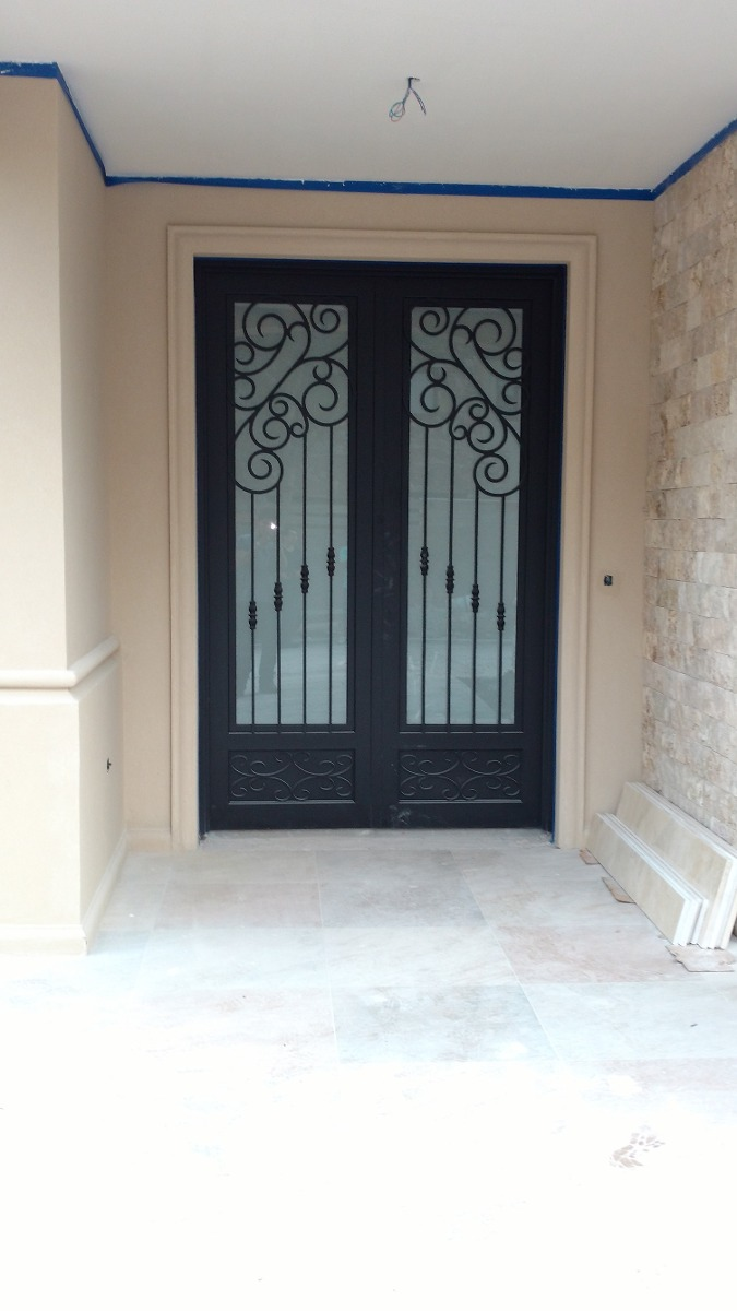 Puertas de hierro forja herrer a artistica a pedido for Puertas de herreria artistica
