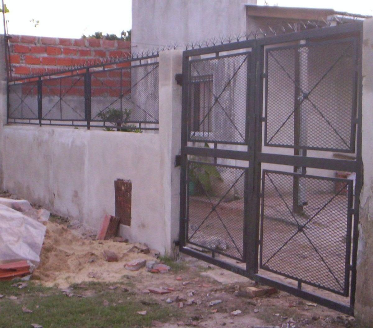 Puertas de rejas y mallas en mercadolibre for Puertas de reja