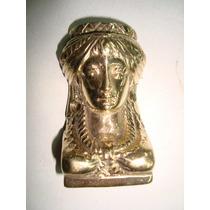 Herraje De Bronce Cariatide Figura De Faraon
