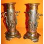Antiguos Violeteros Alemanes Art Nouveau -con Relieves