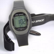 Reloj Pulsometro Pro-space Monitor Cardiaco 50m Wr Luz