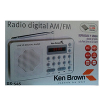Radio Am/fm Kb Portátil - Digital - Usb /sd - Batería Li On