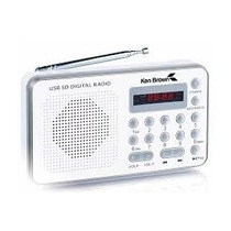 Radio Portatil Fm/am Ken Brown Sd-usb- Bateria Recargable**