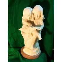 Antigua Escultura Marmol Reconstituido Firmada Estatua